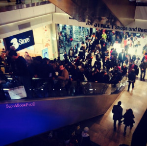 Crowded Christmas Shopping