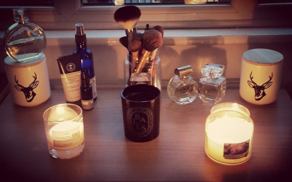 Candles, Diptyque, Neals Yard Remedies, Chanel, Blog A Book Etc, Fay
