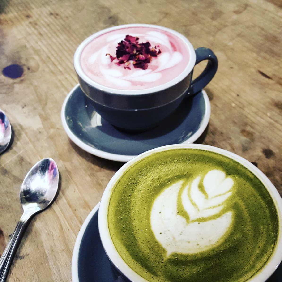 Love Her, Valentine's Day, Valentine, Romance, Life, Lifestyle, Blogger, Bloggers, Coffee, Latte, Latte Art, Matcha, Matcha Latte, Rose Latte, AIDA Shoreditch, AIDA, Shoreditch, London, East London, Friendship, Blog A Book Etc, Fay