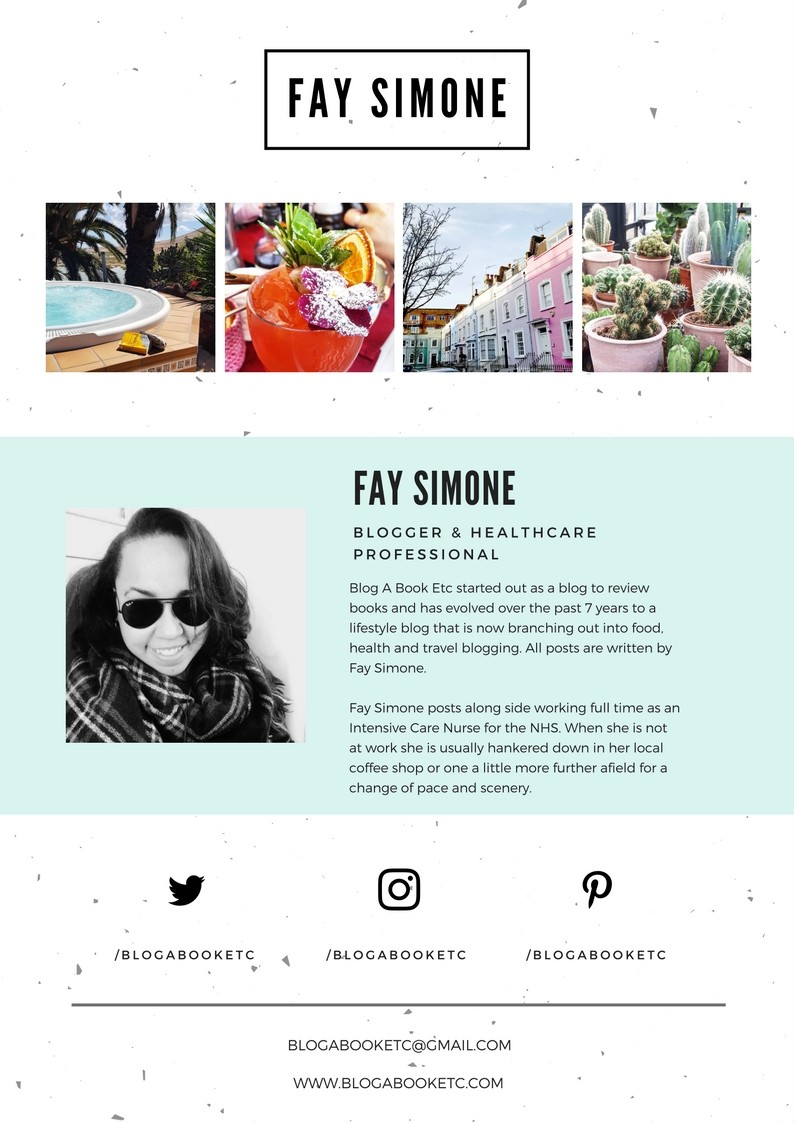 Fay Simone, Blog A Book Etc, Fay, Media Kit, Social Media, Canva