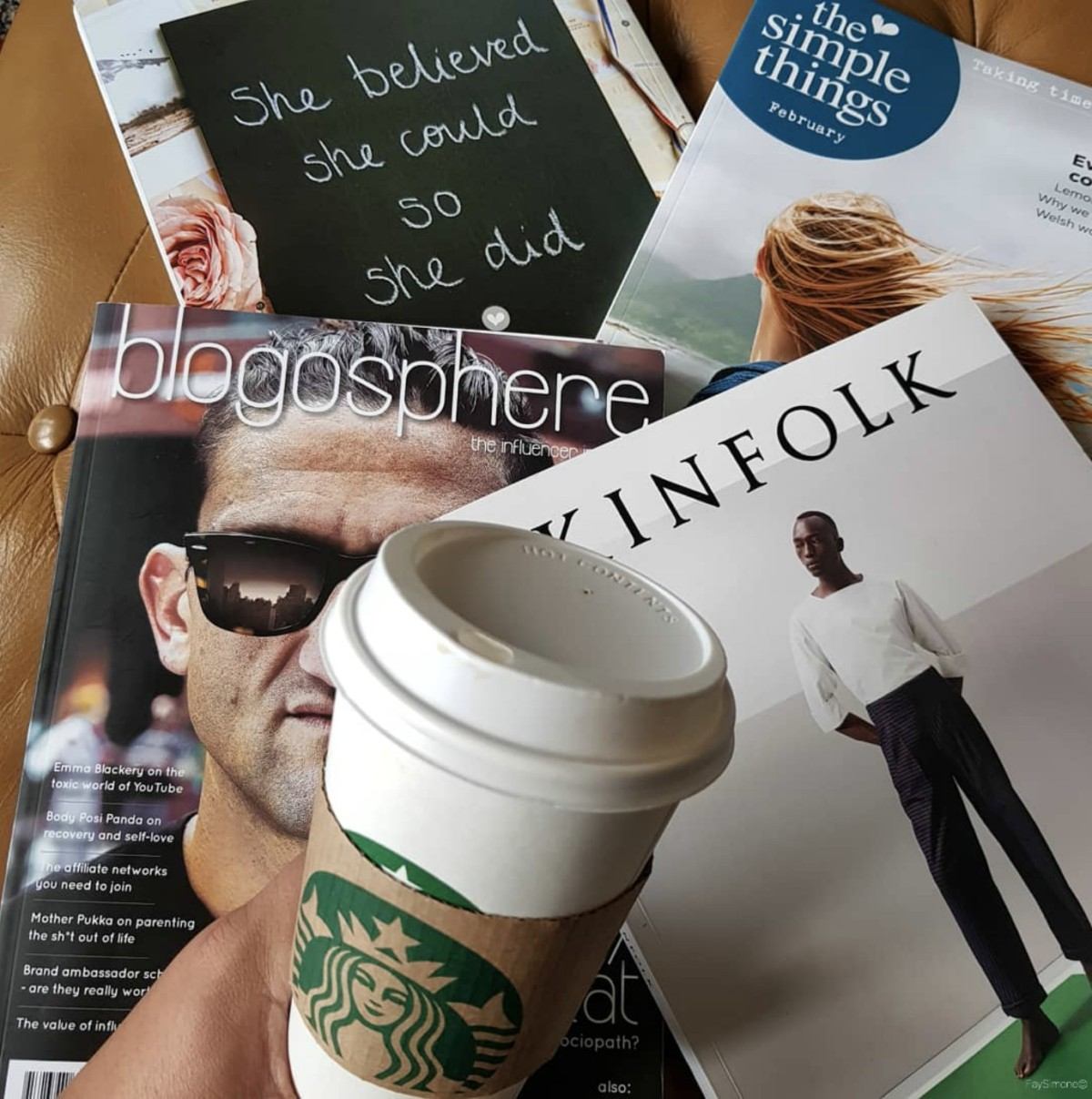 A Perfect Sunday, Starbucks coffee and magazines, coffee and magazines, coffee and reading, Sunday, What makes a perfect sunday, 5 things to do on Sunday, Preparation, Cleaning, Reading, Coffee Drinking, Tea Drinking